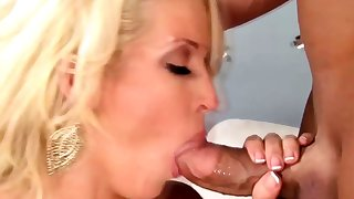 Blonde milf housewife with her stunning lover
