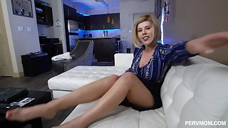 Provocative MILF Amber Chase gets fucked by a monster white dick