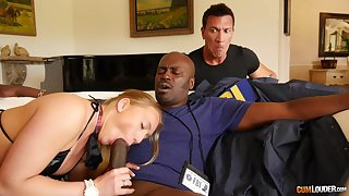 Bedroom seduction with a BBC showing the bitch proper cuckold