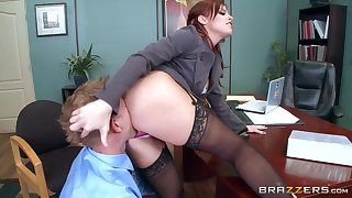 She always wanted to fuck with the new guy and feel him  in her ass