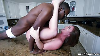 Black man puts his large dick in wet cunt of sexy Maddy O'Reilly