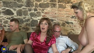 Group sex with Bartina and her experienced cock warm girlfriends