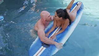 Great pool fuck respecting burnish apply surfing tutor for busty Lela Popularity