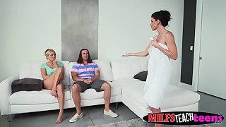 Tarzan slams milf India and teen Kate