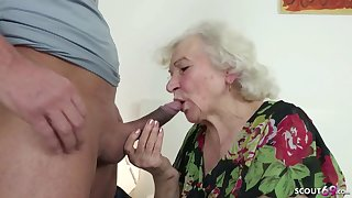 GERMAN Coherent CAUGHT GRANNIE Cock up AND HELP Upon POKE