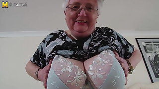 Busty amateur grandmother makes greatest porn