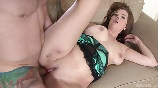 Busty Michelle Sweet masturbates before sucking with an increment of fucking a weasel words