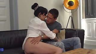 Busty mom Damaris fucks lucky hung son