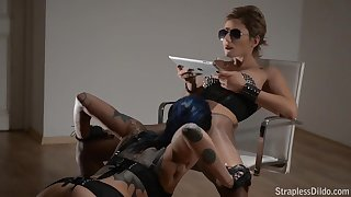 Strapless Dildo Hot Lesbian Porn Video