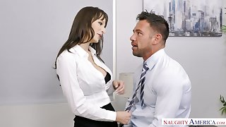 Sexy secretary Lexi Luna seduces handsome co-worker Johnny castle
