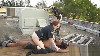 Black criminal caught by MILF cops