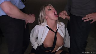 Double penetration can satisfy sexual desires of horny Nataly D'angelo