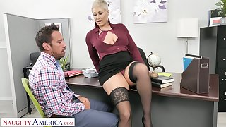 Sexy boss Ryan Keely wants her male office assistant to become her sex slave