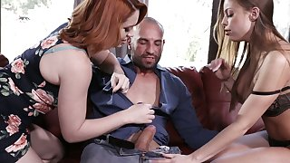Amazing nicely packed whore Britney Amber goes nuts during wild FFM