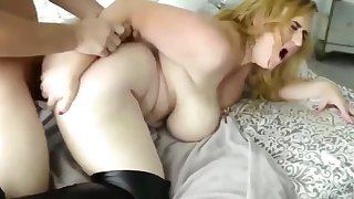 Hot and Busty Amateur MILF Gets Promoted At Work