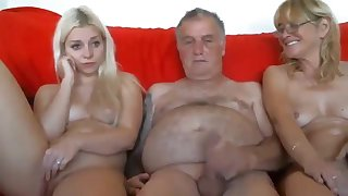 Grandpa and grandma seduce young horny granddaughter live at sexycamx