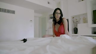Lets fuck my hot brunette geeky stepmother POV style
