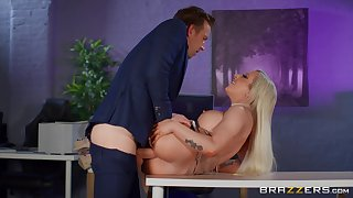 Big breasts sinner Skyler McKay fucked hard in the office