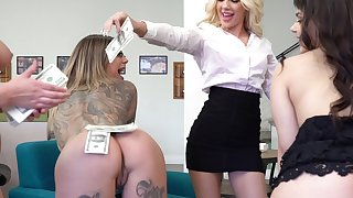 Very lucky dude enjoys fucking his slutty wife Karma RX and her friends