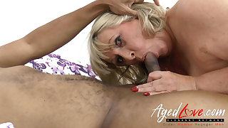 AgedLovE Big Black Cock in British Mature Pussy