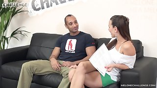 Czech pornstar Mea Melone is disappointed by her big dicked fan