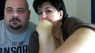 Fat couple on webcam